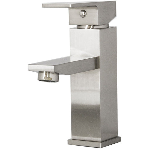 Virtu USA Orion Brushed Nickel Single Hole Faucet - PS-403-BN - Bath Vanity Plus