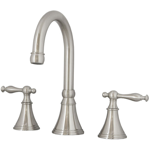 Virtu USA Talia Brushed Nickel Widespread Faucet - PS-1201-BN - Bath Vanity Plus