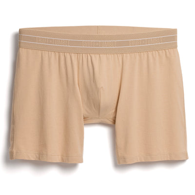 Journeyman premium size boxer briefs for big and tall men. XL, XXL, 3XL, 4XL. Champagne, Port, Black.  option=champagne