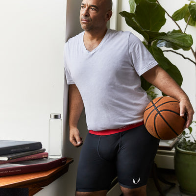 Sportsman premium size boxer briefs for big and tall men. XL, XXL, 3XL, 4XL. option=black