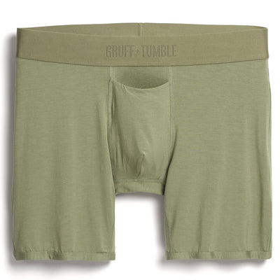 Statesman premium size boxer briefs for big and tall men. XL, XXL, 3XL, 4XL. Blue, Green, Black, Driftwood option=olive green