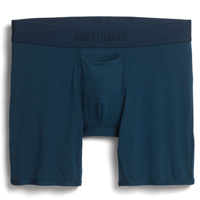 Statesman premium size boxer briefs for big and tall men. XL, XXL, 3XL, 4XL. Blue, Green, Black, Driftwood option=sailor blue