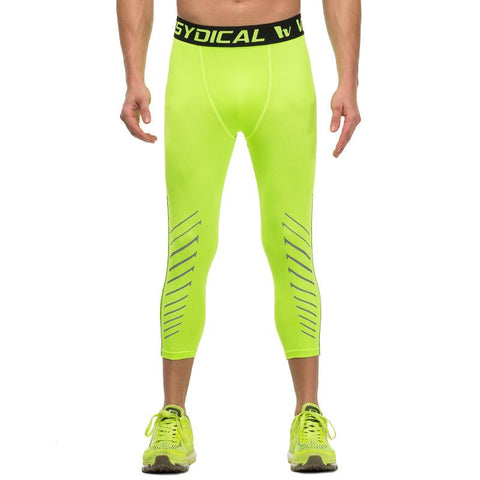Hyper Green ¾ Compression Tights