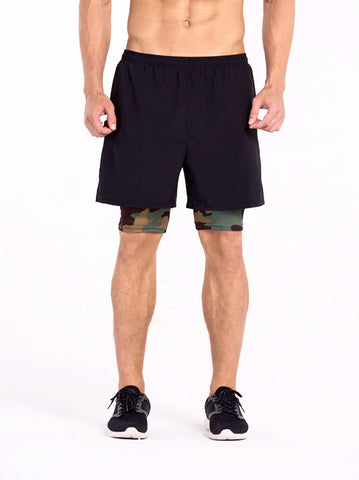 2 In 1 Training Shorts A-Team Camo