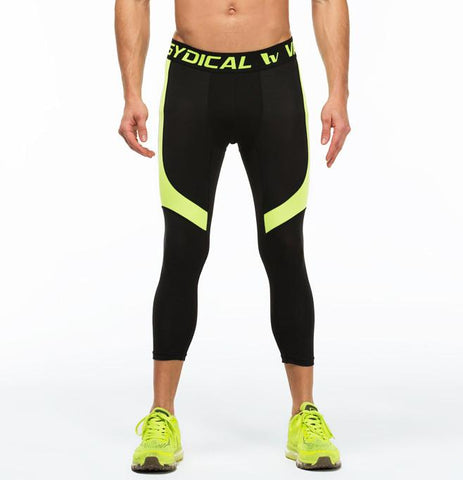 Speed Green ¾ Compression Tights