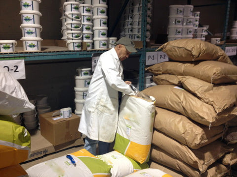 Human Grade Herbs in the Selected Bioproducts Warehouse reading for natural herbal supplements for horses.