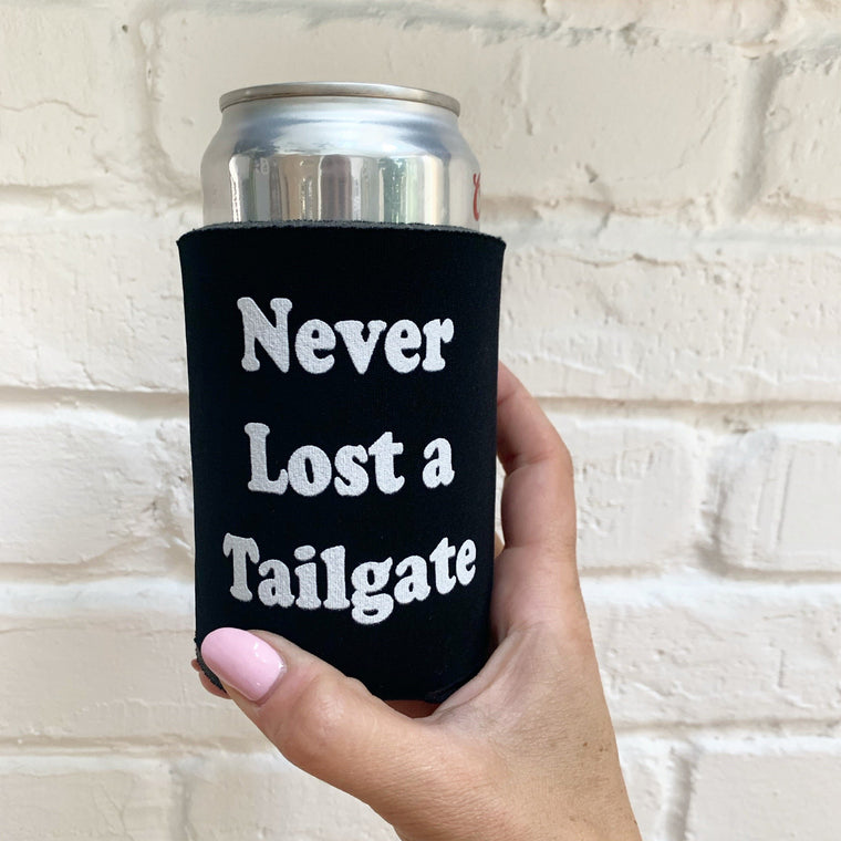 Never Lost a Tailgate Pocket Coolie- 4 for $12