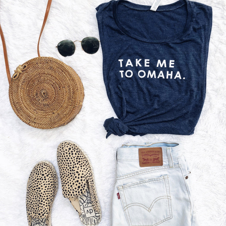 Take Me To Omaha tank top