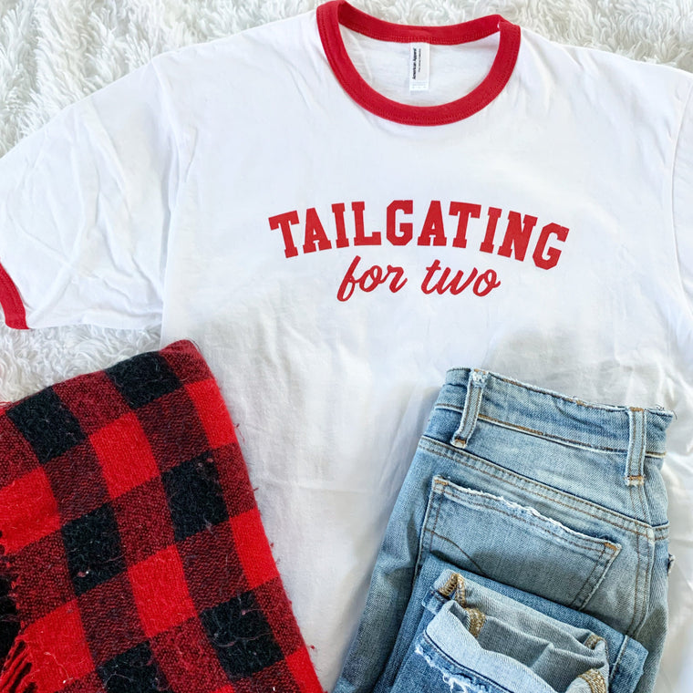 Tailgating For Two Ringer Tee