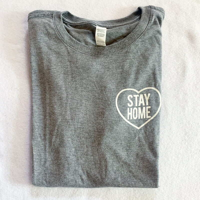 Stay Home Grey T