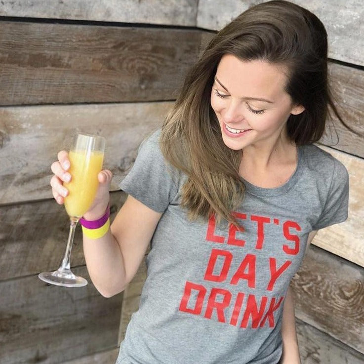 Let's Day Drink - Red/Grey