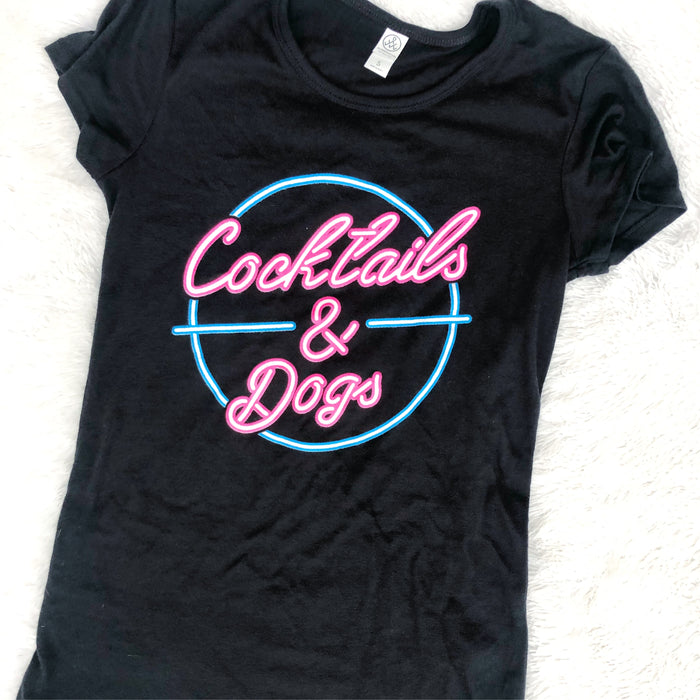 Cocktails and Dogs tshirt