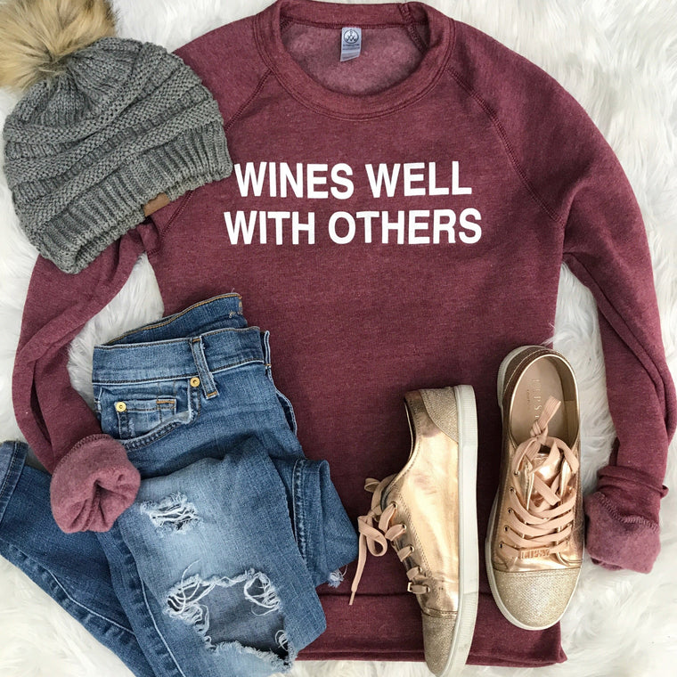 Wines Well With Others - sweatshirt Sale Price