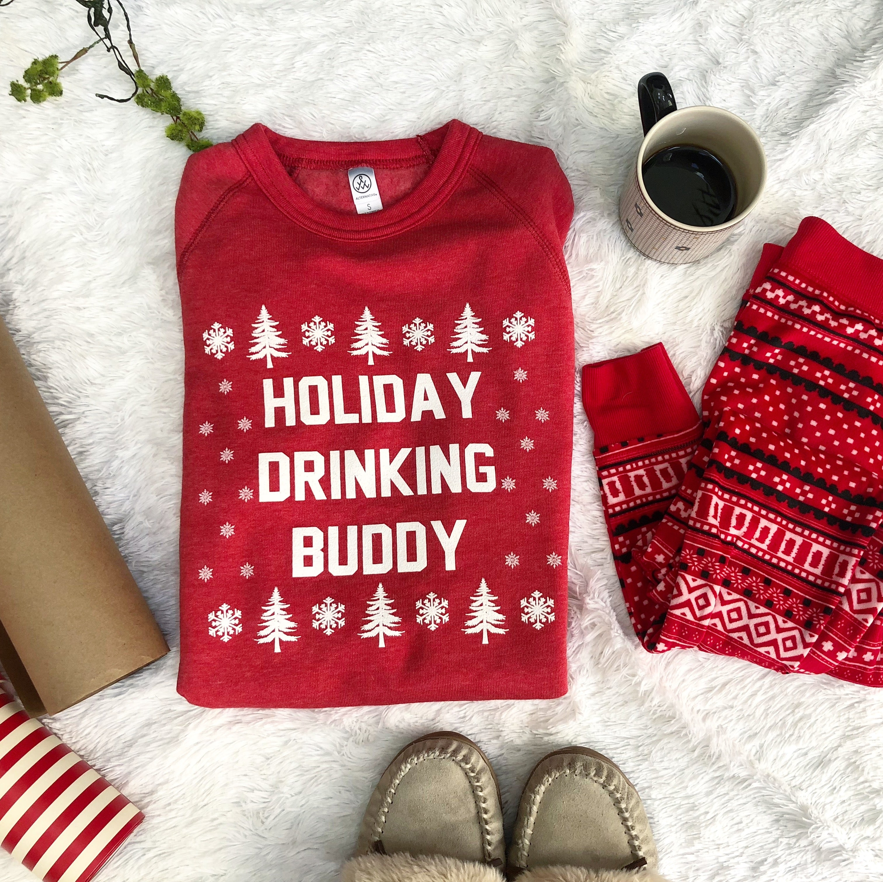 Holiday Drinking Buddy sweatshirt