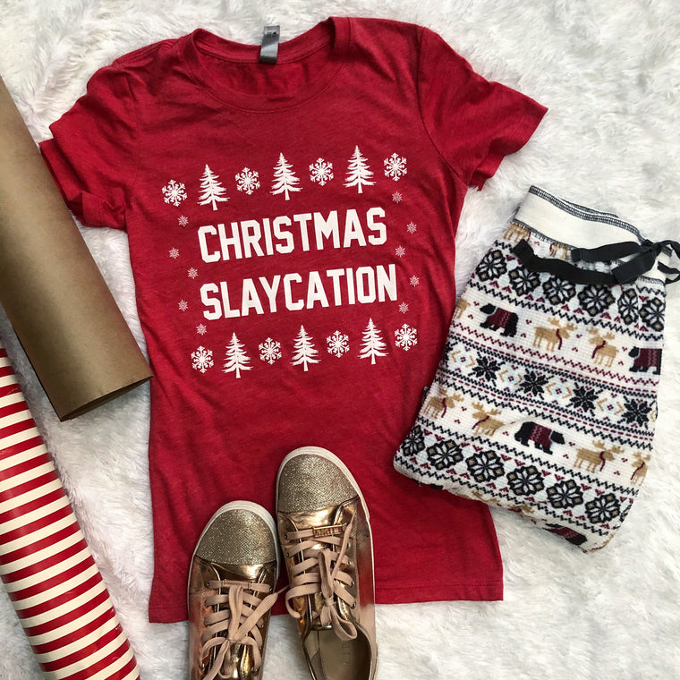 Christmas Slaycation tshirt