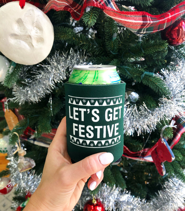 Let's Get Festive pocket coolies- 4 for $12