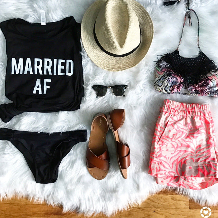 Married AF black tank top