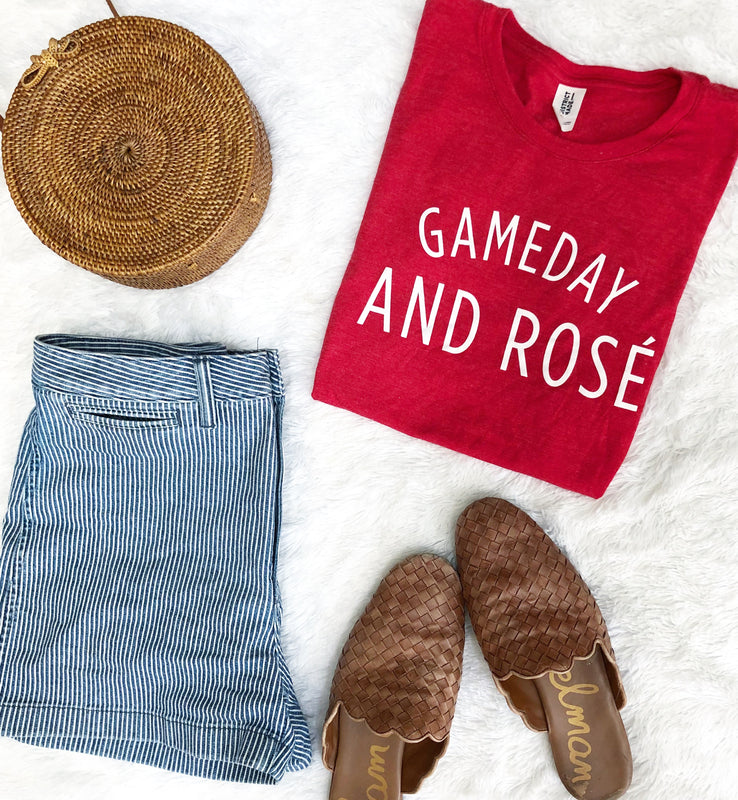 Gameday and Rosé - tshirt
