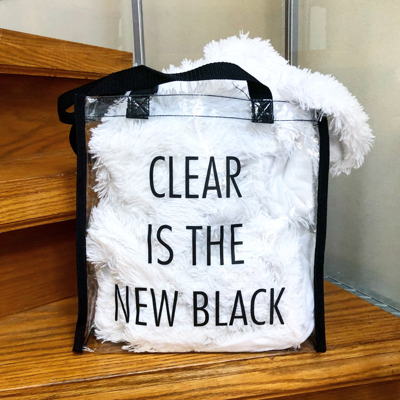 Clear Is The New Black Stadium Tote