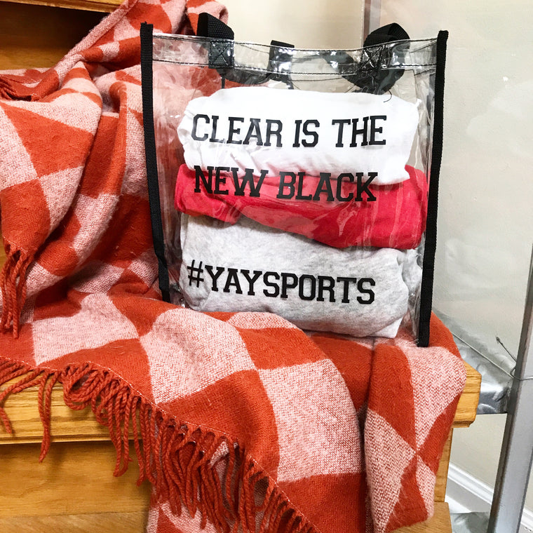 Clear Is The New Black- Stadium Tote