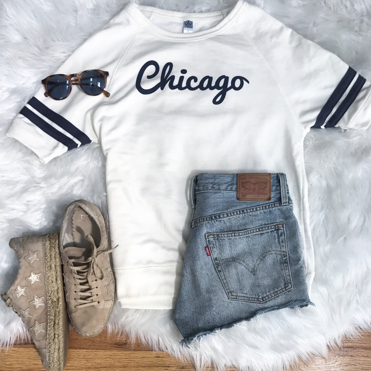 Chicago - short sleeve retro sweatshirt