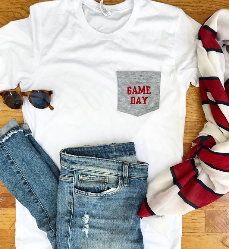 Game Day - Unisex pocket tee ON SALE