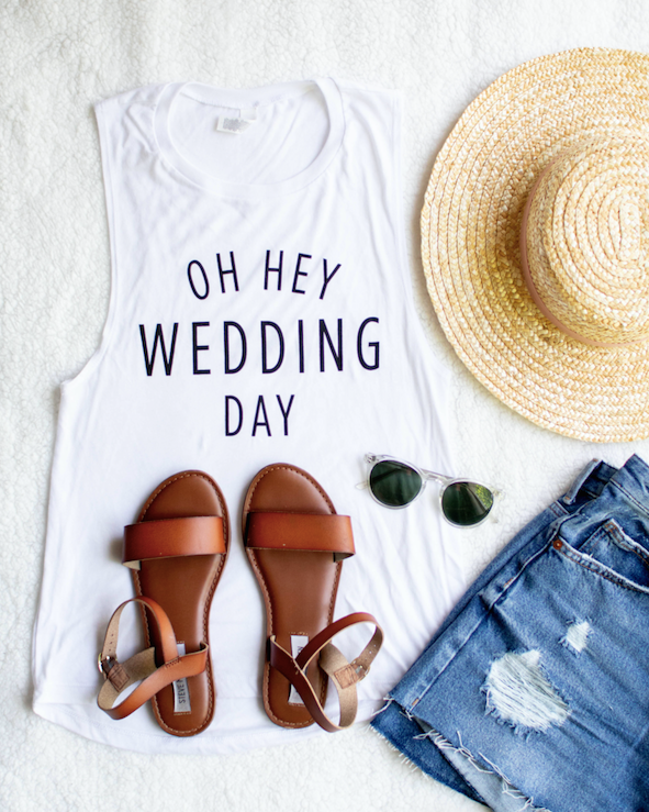 Oh Hey Wedding Day- Tank Top