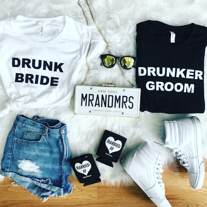 Drunk Bride after party/bachelorette shirt