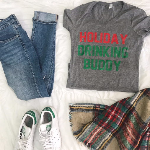 Holiday Drinking Buddy- tshirt