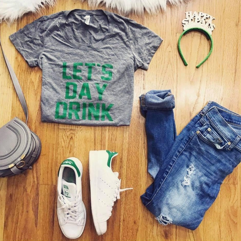 Let's Day Drink Green/Grey