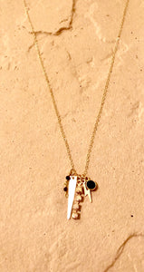 Onyx talisman necklace