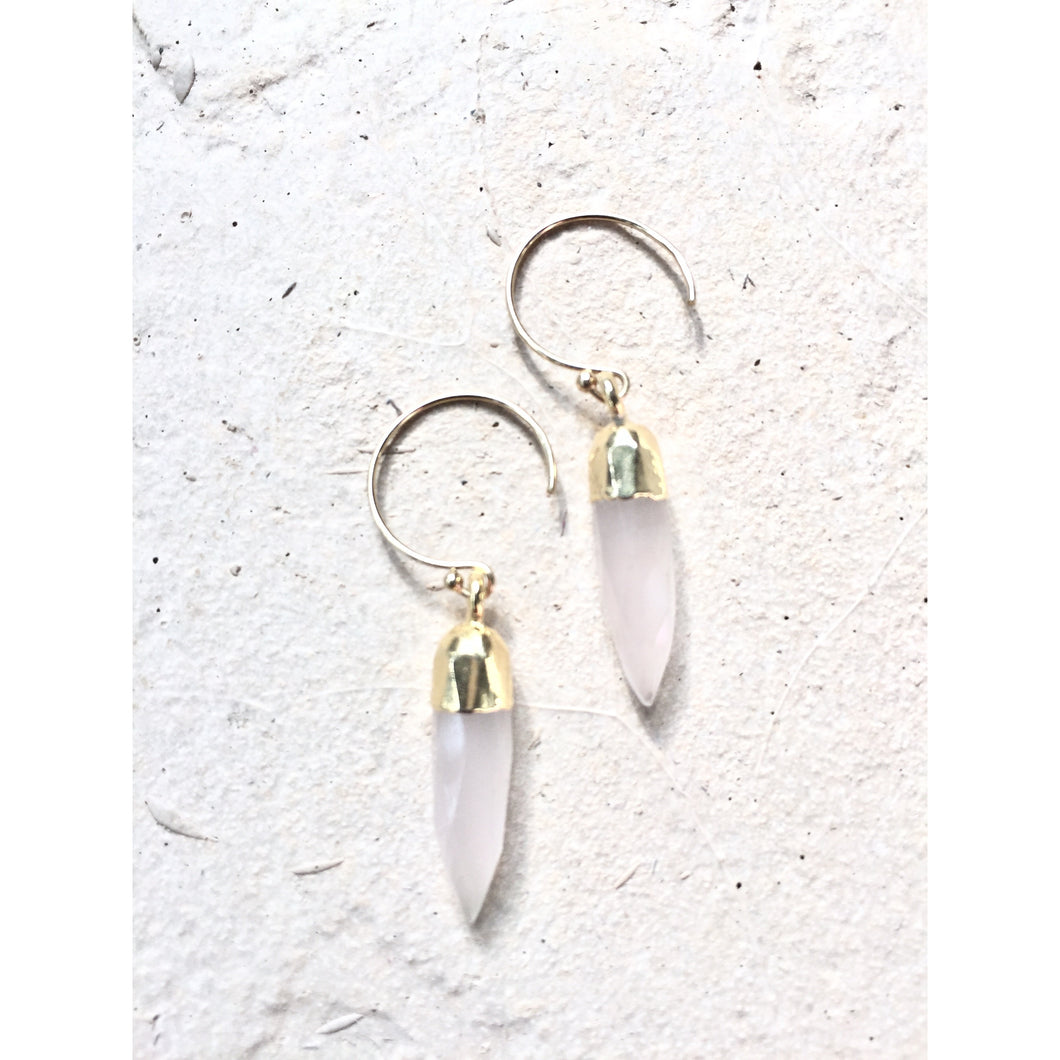 Spike Chalcedony Earrings