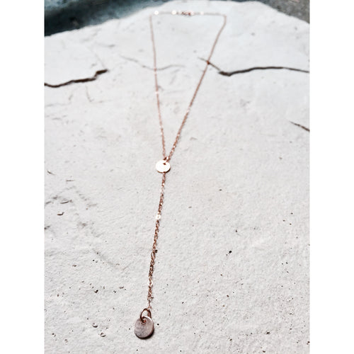 Disc Y Drop Necklace