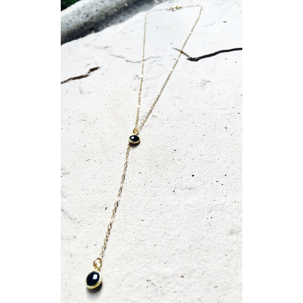 Y-drop necklace onyx