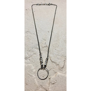 Circle and Stone Necklace