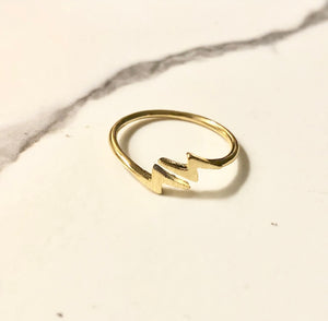 ZAPPED lightning bolt ring