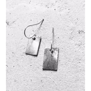 Brushed Rectangle Earrings