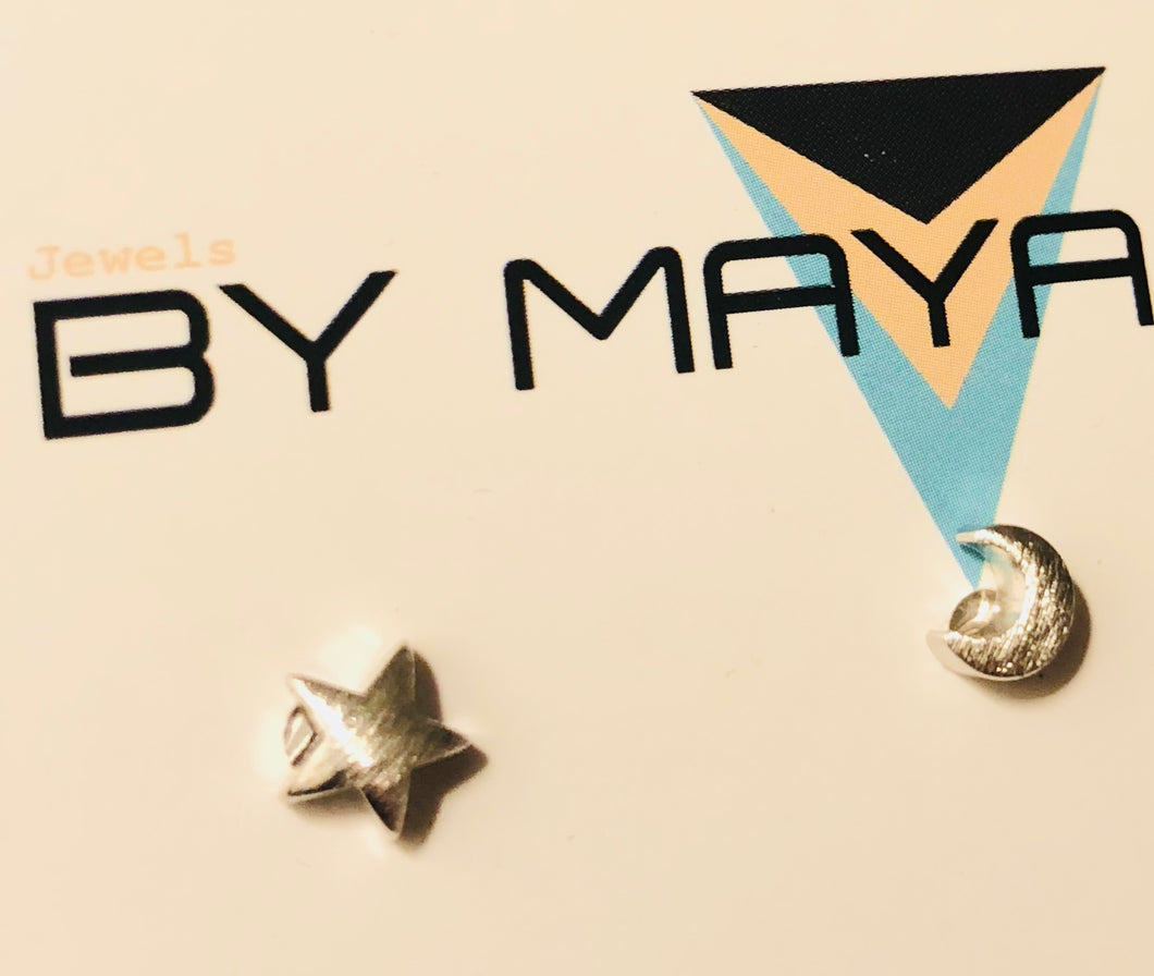 macro star and moon studs