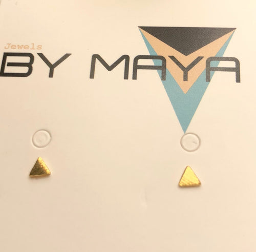 micro mini triangle studs