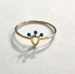 peacock crown ring
