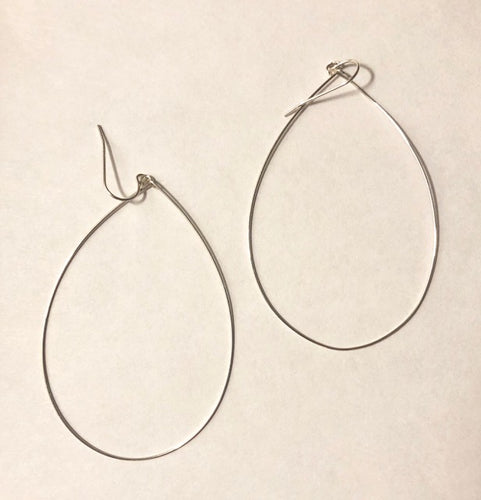 tear drop hoop earrings