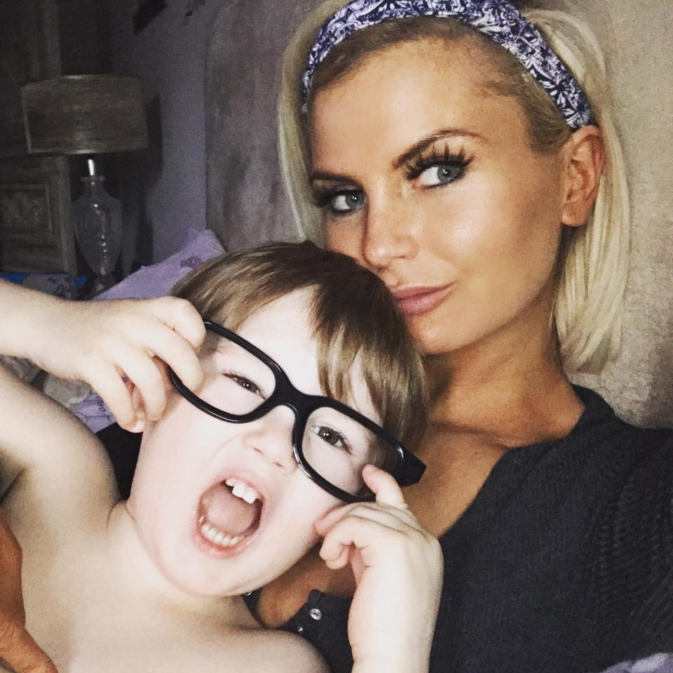 Maria Ward Founder of Elegance Lashes with her son
