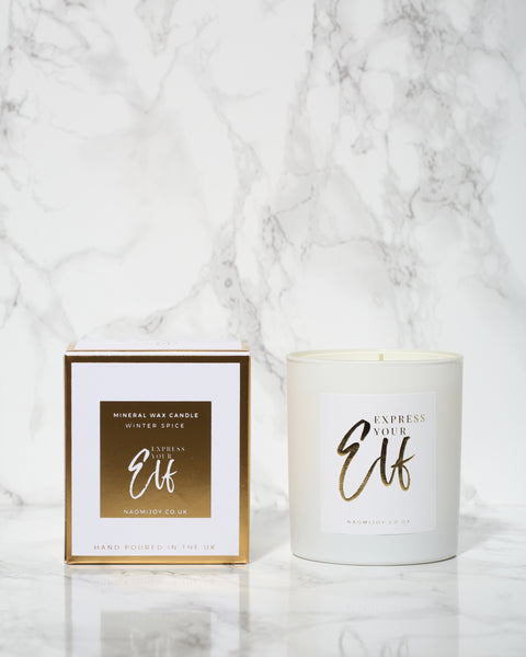 Naomi Joy Living - Express your Elf - Mineral Wax Candle in Winter Spice - Pic Pop