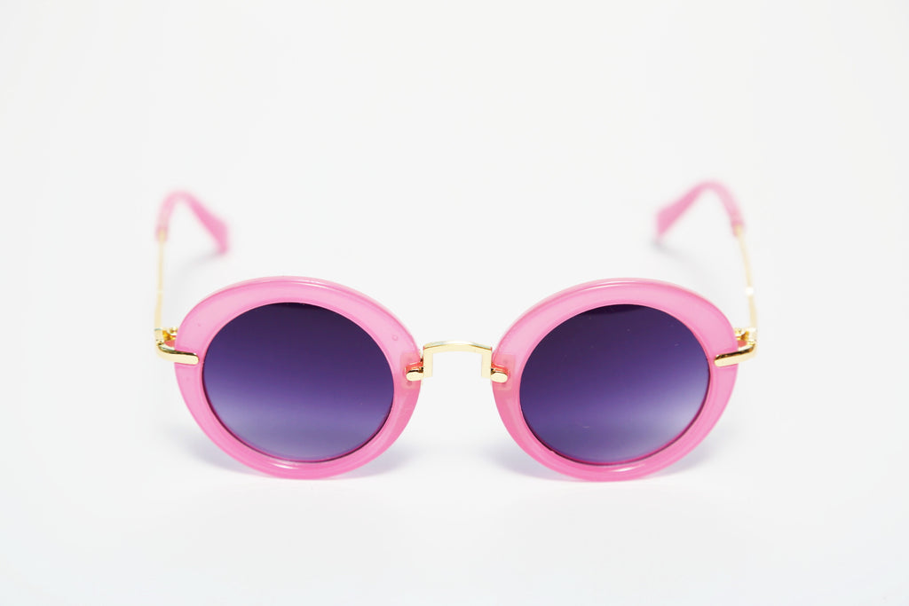 PicPop Kids 'Pixie' Retro Sunglasses - Pink - Pic Pop