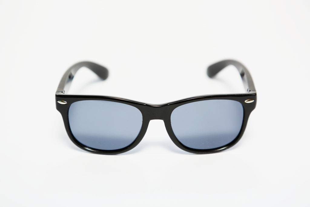 PicPop Kids 'Hendrix' Wayfarer Style Sunglasses - Black - Pic Pop