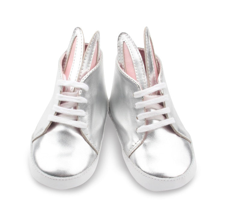 Baby Bunny Shoes - Metallic Silver - Pic Pop