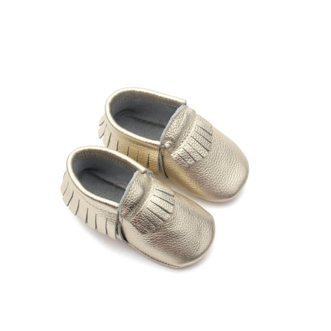 PicPop Baby Moccasins - Gold - Pic Pop