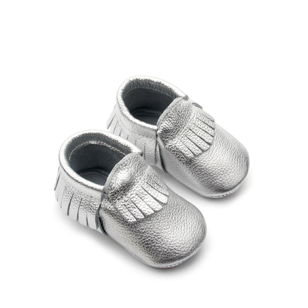 PicPop Baby Moccasins - Silver - Pic Pop
