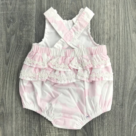 Zip Zap Baby Girls Floral Romper and Matching Sun Hat