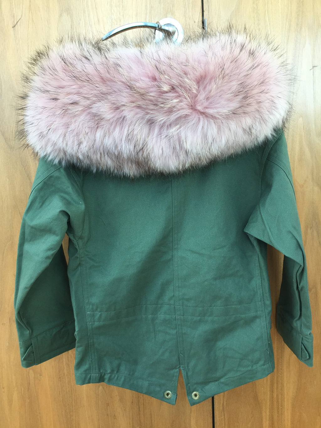 8a750831befd PicPop Kids Khaki Parka with Raccoon Fur Collar - Baby Pink – Pic Pop